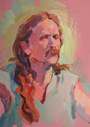 Long Haired Man painting